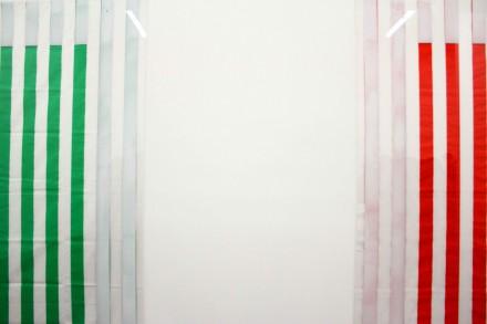 "Daniel Buren, ""Electricity"" at Bortolami Gallery (Installation View) Photo by Elene Damenia"