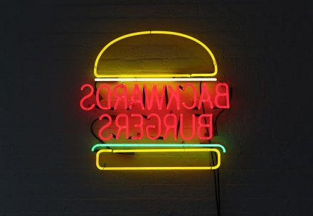 David Shrigley, Backwards Burgers (2013) via Anton Kern
