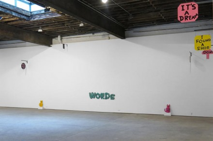 David Shrigley, Signs (Installation View), via Anton Kern