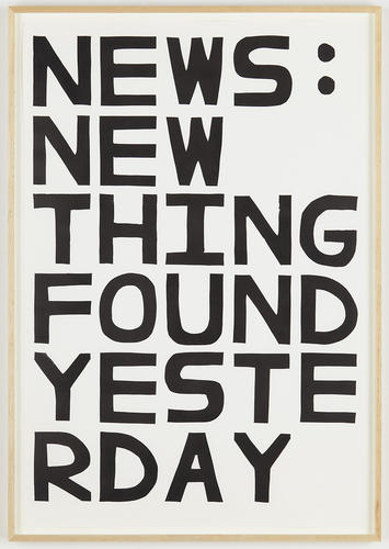 David Shrigley, News: New Things Found Yesterday (2012) via Anton Kern