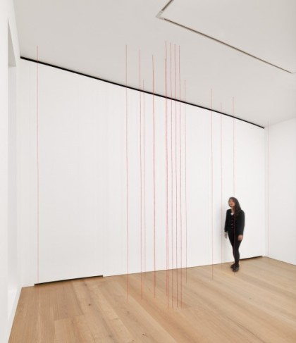 Fred Sandback, (Installation View), via David Zwirner
