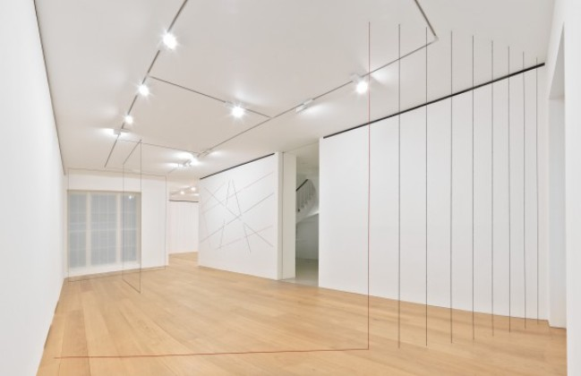 Fred Sandback, Installation View, via David Zwirner