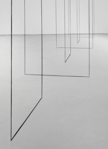 Fred Sandback, Untitled (1977-2008), via David Zwirner