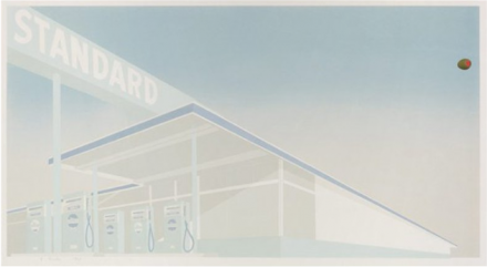 Ed Ruscha, Cheese Mold Standard with Olive (1969), via Bernard Jacobson