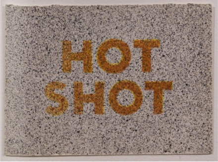 Ed Ruscha, Hot Shot (1973), via Bernard Jacobson