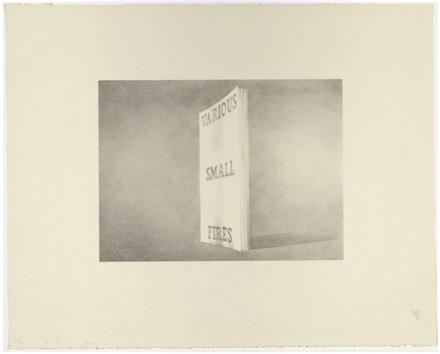 Ed Ruscha, Various Small Fires, (1970), via Bernard Jacobson