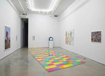 Installation view at 83 Grand Street, image via Team Gallery, New York
