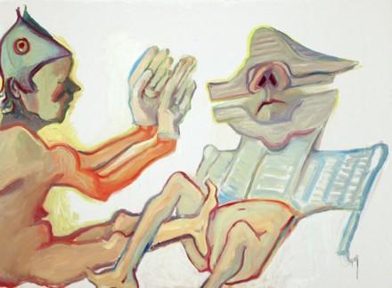 Maria Lassnig, Fraternite (2008), image via Aniko Berman