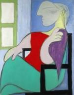Pablo Picasso, Femme assise près d'une fenêtre (1932), via Bloomberg