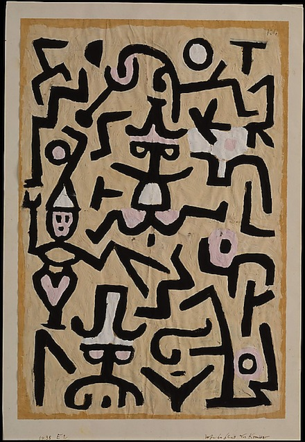 Paul Klee, Comedians' Handbill, 1938, via Metropolitan Museum of Art