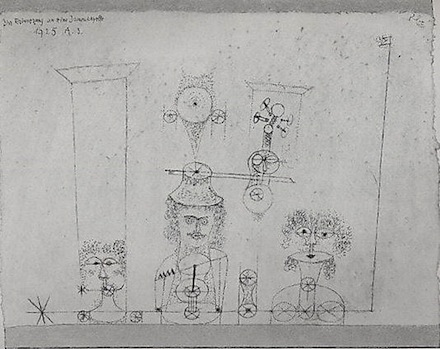 Paul Klee, In Memory of an All-Girl Band (1925), via Metropolitan Museum of Art