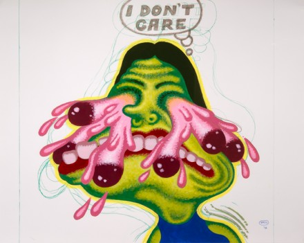 Peter Saul, I Don't Care (2012), via Mary Boone