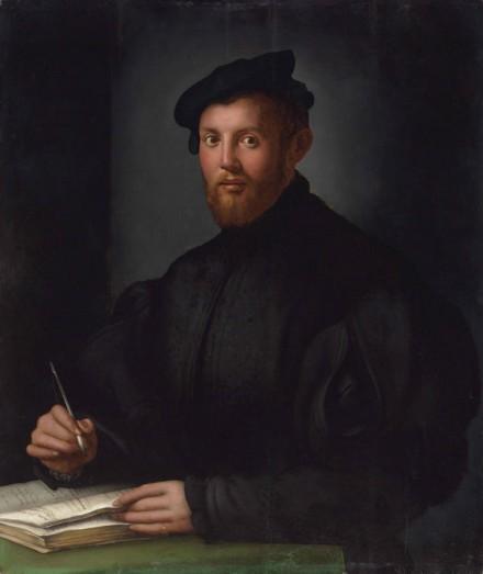 Agnolo Bronzino, Portrait of a Young Man with a Book, via Christie's
