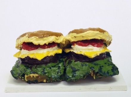 Claes Oldenburg Two Cheeseburgers with Everything (1962), via Guggenheum Bilbao