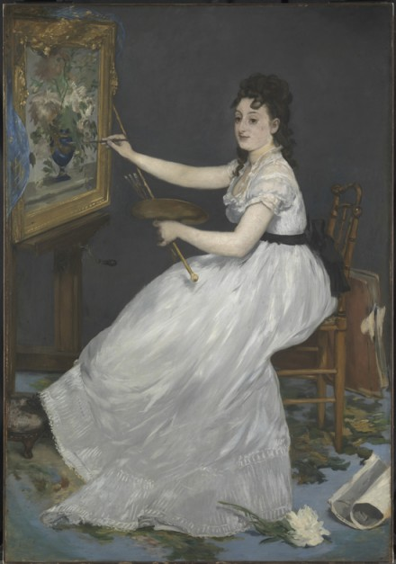 Édouard Manet, Eva Gonzalès (1870), via Royal Academy of Arts