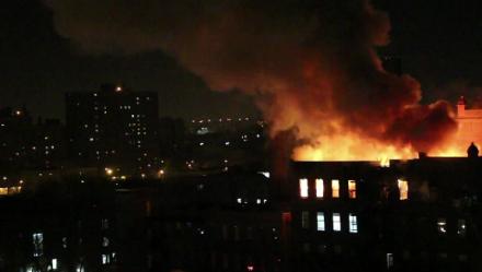 Fire at Pratt Institute, via Brooklyn News 12