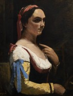 Jean Baptiste Camille Corot, The Italian Woman or Woman with Yellow Sleeve, via BBC