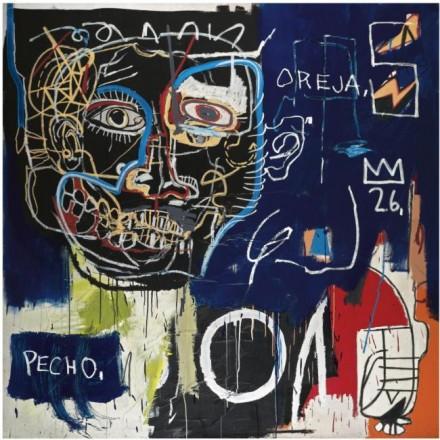 Jean-Michel Basquiat, Untitled (Pecho:Oreja) (1982-3), via Sotheby's