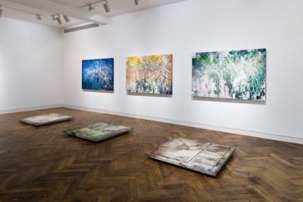 José Parlá, Broken Language (installation view) via Haunch of Venison