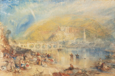 Joseph Mallrond William Turner, Heidelberg With a Rainbow, via Sotheby's
