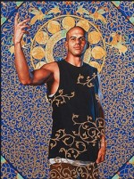 "One of Kehinde Wiley's new ""World Stage"" paintings, done in Israel, via the Economist"
