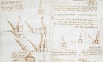 Leonardo da Vinci's notebook sketches from The British Library, via The Guardian