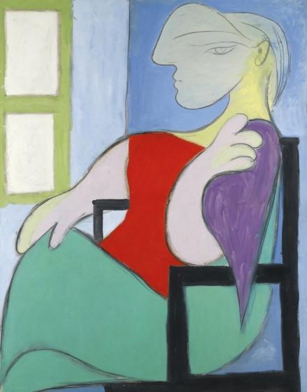 Pablo Picasso, Femme Assise Près D'Une Fenêtre, via Sotheby's