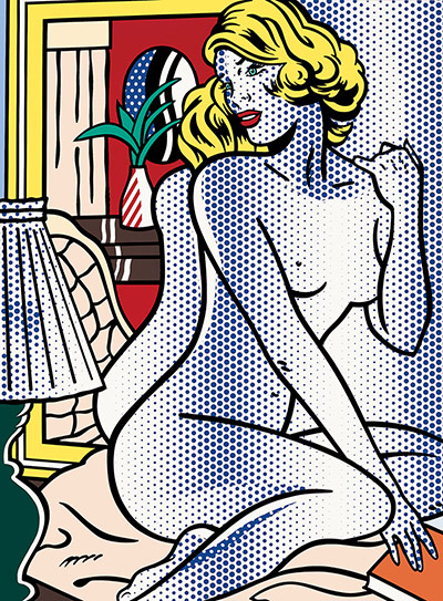 Roy Lichtenstein, Blue Nude (1995), via The Guardian