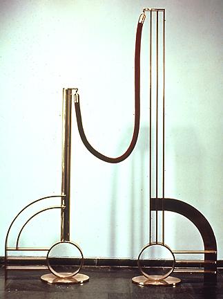 Roy Lichtenstein, Modern Sculpture with Velvet Rope (1968), via The Lichtenstein Foundation