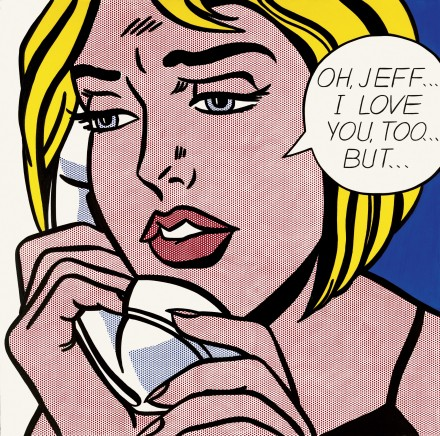 Roy Lichtenstein, Oh Jeff…I Love You, Too…But (1964), via the Tate Modern