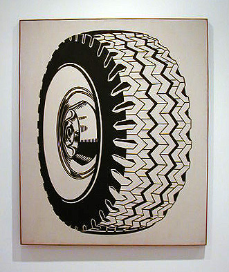 Roy Lichtenstein, Tire (1962), via the Lichtenstein Foundation