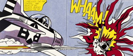 Roy Lichtenstein, Whaam! (1963), via Tate Modern