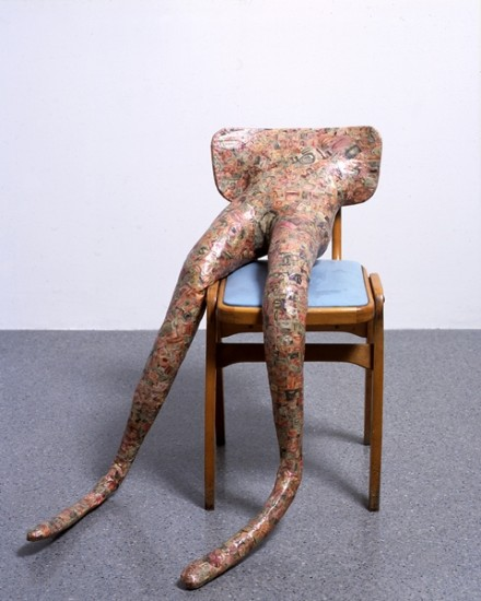 Sarah Lucas, Hysterical Attack [Mouths] (1999), via Sadie Coles