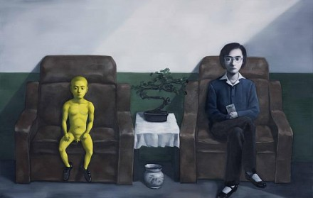 Zhang Xiaogang, Big Woman and Little Man (2012), Courtesy of PACE Gallery