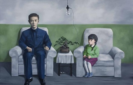 Zhang Xiaogang, My Father (2012), Courtesy of PACE Gallery