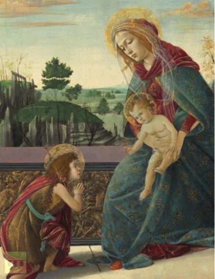 Sandro Botticelli, The Madonna and Child, via Christie's