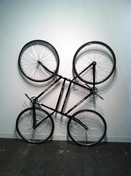 Ai Weiwei Bicycle Sculpture at Galleria Continua
