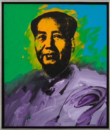 Andy Warhol, Mao (1973), via Mnuchin Gallery