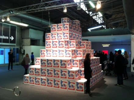 Charles Lutz's Brillo Box Pyramid, at the Armory Show 2013