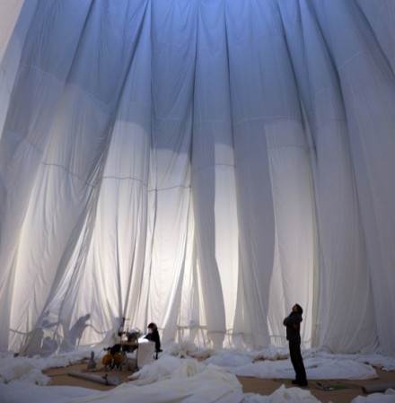 Christo, Big Air Package (2013) via Gasometer Oberhausen