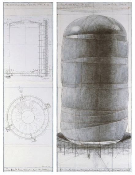 Christo, Sketches for Big Air Package (2013) via Artist's Site