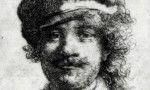 Detail of a Rembrandt Self Portrait Stolen from Boston in 1990, via The Guardian