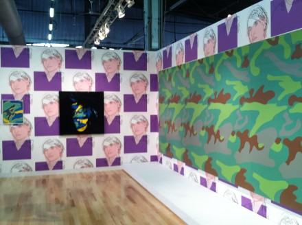 Gagosian Gallery (Installation View), With a number of Warhol Prints
