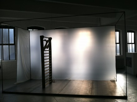 Guillame Leblon's Large-scale sculpture for Galerie Jocelyn Wolff, via Daniel Creahan for Art Observed