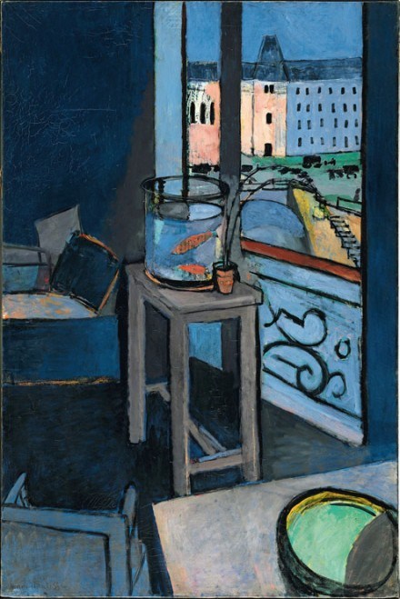 Henri Matisse, Interior with Goldfish (1914), via The Metropolitan Museum of Art
