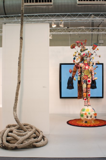 Jack Shainman Gallery Installation View, with works by Nick Cave and Vibha Galhotra