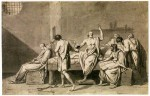 Jacques-Louis David, The Death of Socrates, via The Art Newspaper