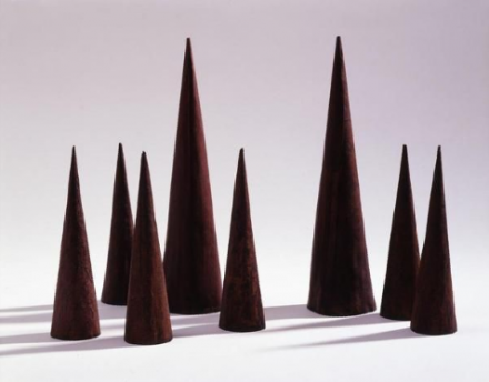 James Lee Byars, Eight Cones (1959-1960), via Michael Werner Gallery, London and New York