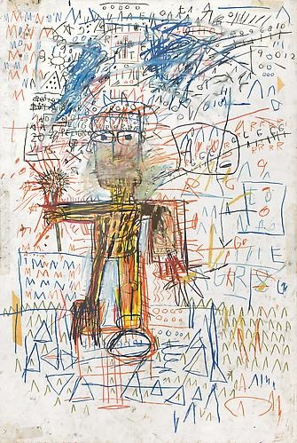Jean Michel Basquiat- Man with Microphone, 1982-1980s Revisited-Skarstedt Gallery
