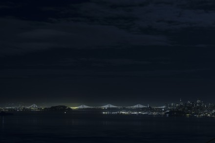 Leo Villareal, The Bay Lights (2013) Courtesy of The Bay Lights; Photography Lucas Saugen